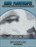 Alien Planetscapes 1 - Icy Planet